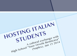 07 Hosting Italian students